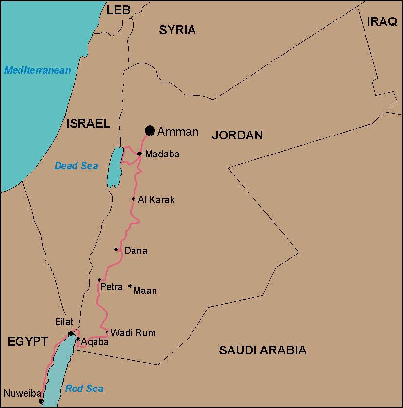 Mit dem Fahrrad durch Jordanien Israel und den Sinai