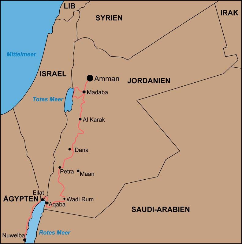 Jordanien Rundreise Srd Reisen